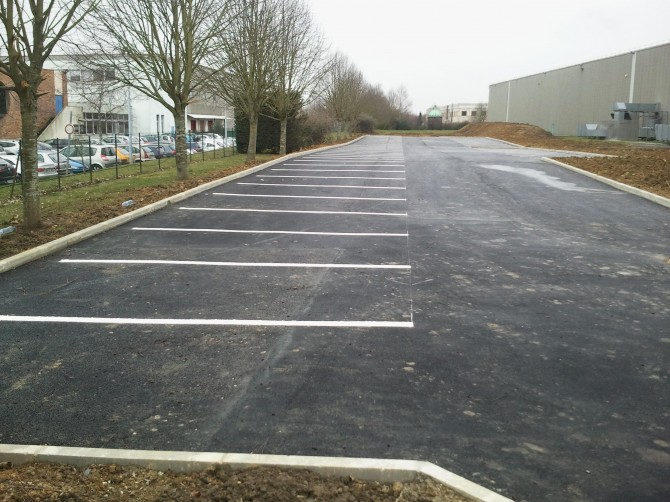 Creation d'une parking - BATIMENT ET TRAVAUX PUBLICS